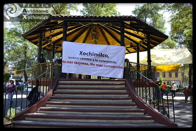 Campaña Xochimilco camino a la autonomía. 2014-2015